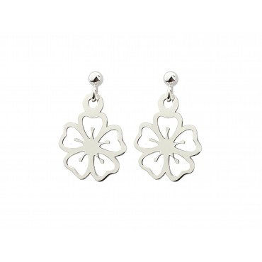 Kolczyki srebrne lilia