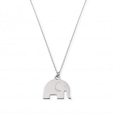 Srebrny naszyjnik słoń